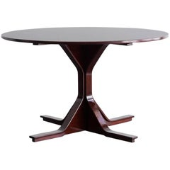"""Mod. 522"" Rosewood Round Table by Gianfranco Frattini for Bernini, 1960"
