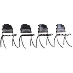 "Set of 4 ""Medusa"" Chairs by Studio Tetrarch for Alberto Bazzani, 1969"