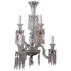 1950'Chandelier Crystal Baccarat 6 Arms