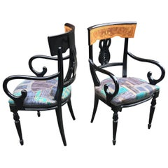 Pair of Neoclassical armchairs circa 1970