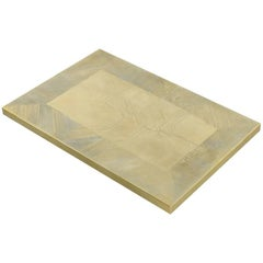 Etched Brass Coffee Table by Daniel Dhaeseleer