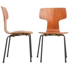 Rare Children's Bent Plywood Chairs by Arne Jacobsen for Fritz Hansen