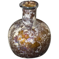 Ancient Roman Glass, small Bottle with bulbous body