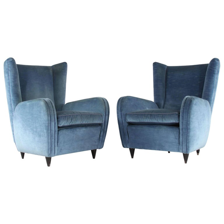 Pair of Chairs, Design by Paolo Buffa, Italy, 1950s