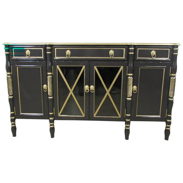 Maison Jansen Lacquered Sideboard For Sale