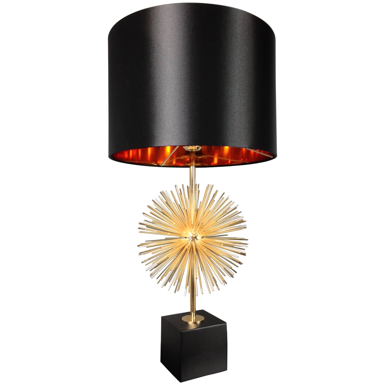 Sputnik Brass Table Lamp