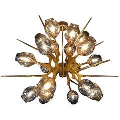 Masterful metal chandelier