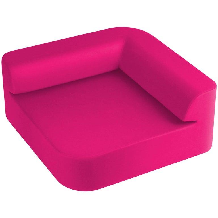 Small modern modular lounge Quad sofa in pink