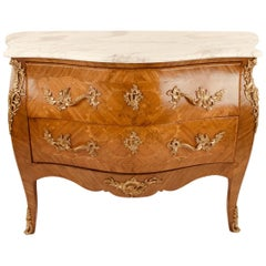 Louis XV style Bombe Serpentine Commode