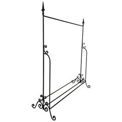 Antique Italian Wrought Iron Standing Coat Rack