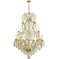 Monumental High Louis XV Style 24-Light Chandelier