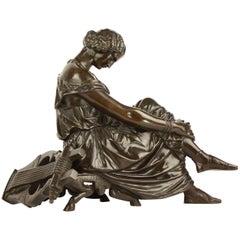 19th Century Bronze Figure of Sappho after James Pradier (1790-1852)