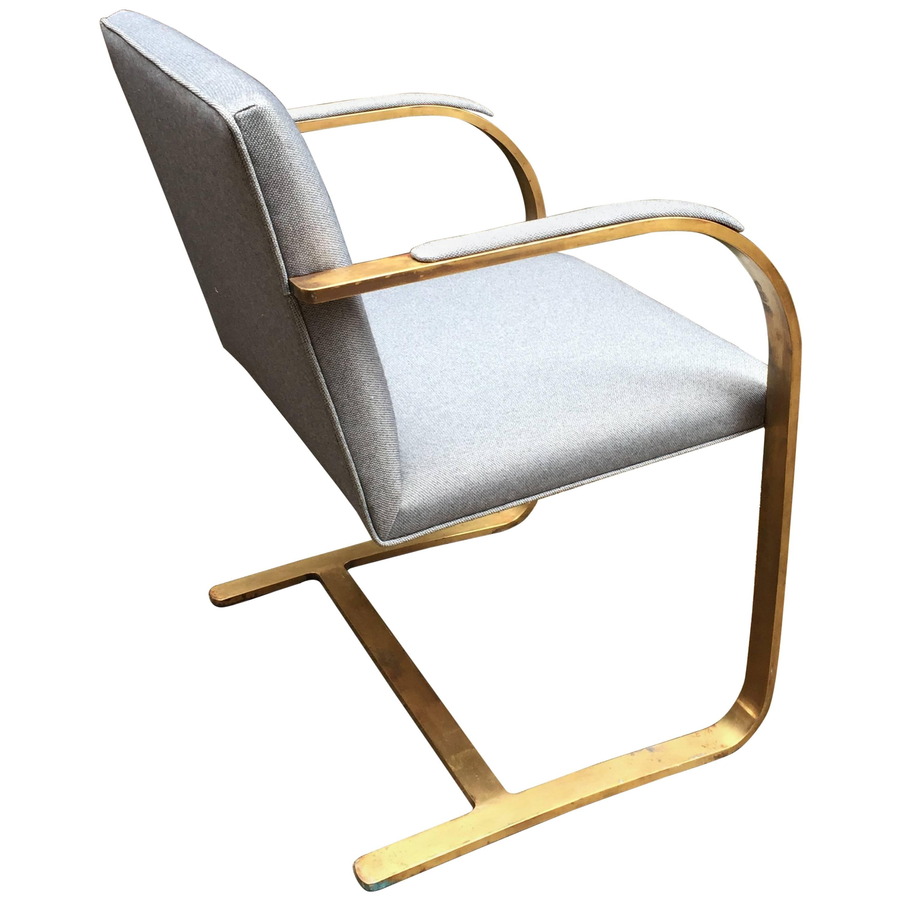 Bronze Flat Bar Brno Chair For Sale