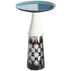 'Daddy' side table (vintage ceramics and glass) by Andreas Berlin