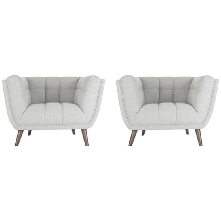 Pair of Design And Comfy Armchairs