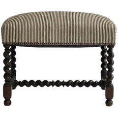 Antique French Reupholstered Ottoman