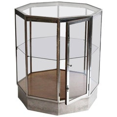 Art Deco Chrome Octagonal Cabinet
