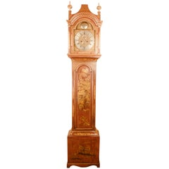 Lacquer and Gilt Chinoiserie Longcase Clock