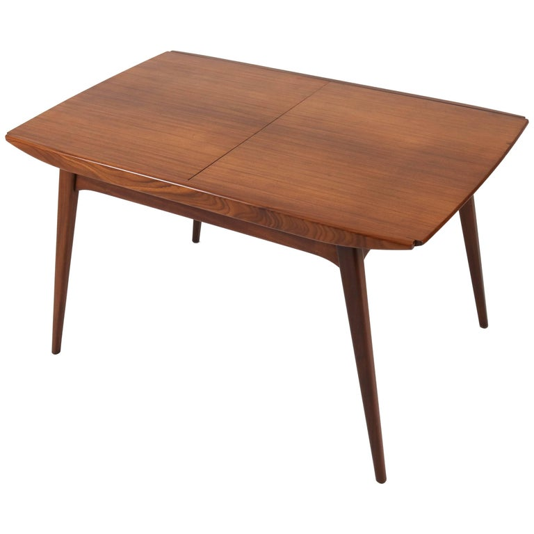 Teak Dutch Mid-Century Modern Extendable Table by Louis Van Teeffelen for Webe