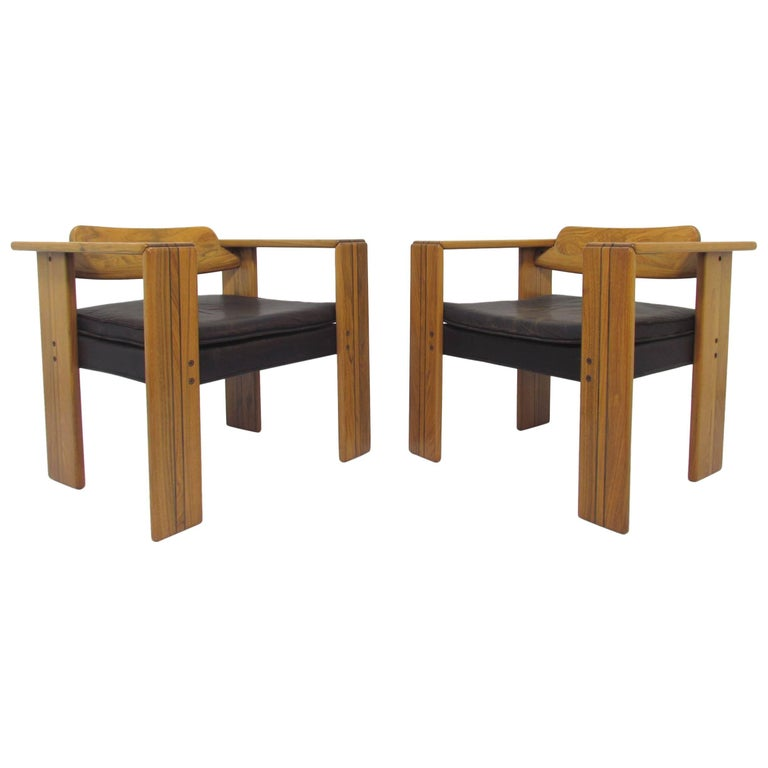 "Pair of Afra and Tobia Scarpa ""Artona"" Chairs, Italy, circa 1970s"