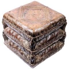 Venetian Terracotta Stool from Early 19th Century, Italy