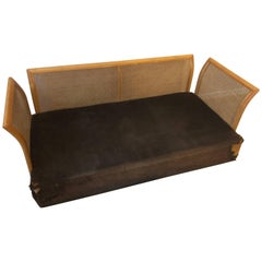 SALE Italian Cane Daybed Sofa / Canape / Couch  1970's
