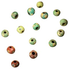 Phoenician Glass Eye Beads, Fine Ancient Jewellery