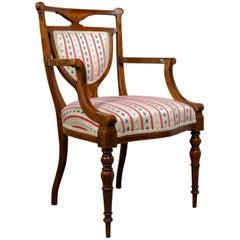Antique Elbow Chair Rosewood English Open Armchair Maple & Co, circa 1910