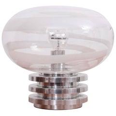 Doria Space Swirl Murano Glass Table Lamp, 1960s, Germany