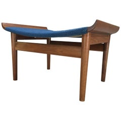 Finn Juhl Bwana Stool or Ottoman for France and Son in Teak
