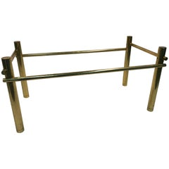 Brass Italian Coffee Table or Accent Table