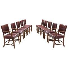 Fritz Hansen Set of Ten Dining Chairs, circa 1940