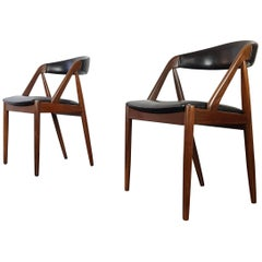 Pair of Kai Kristiansen Model 31 Teak 'a' Frame Chair for Schou Andersen, 1960s