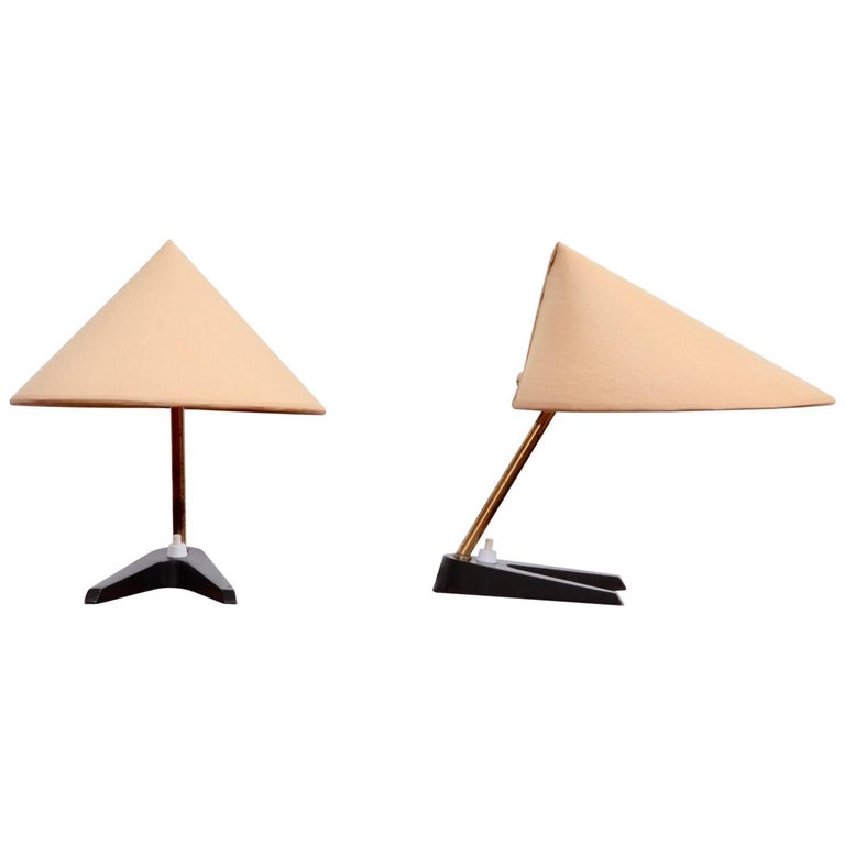 Pair of 1950s Table Lamps in the Manner of Kalmar or Rupert Nikoll