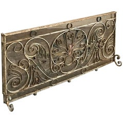 19th Century Painted Wrought Iron Ballustrade ~ Fire Screen