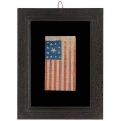 13 Star, Civil War Period, Parade Flag, With Stars in A Wreath Design