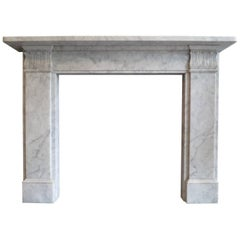 Carrara Marble Regency Style Fireplace Mantel