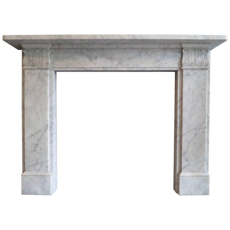 Carrara Marble Regency Style Fireplace Mantel