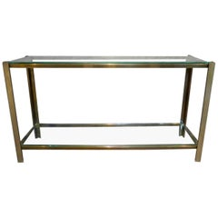 Brass French Two Tiered Console Table