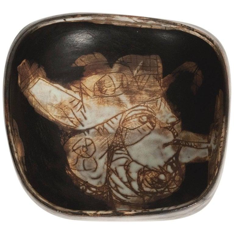 Eugène Fidler, Decorative Ceramic Bowl or Vide Poche