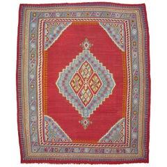 Large Antique Oushak Kilim Rug