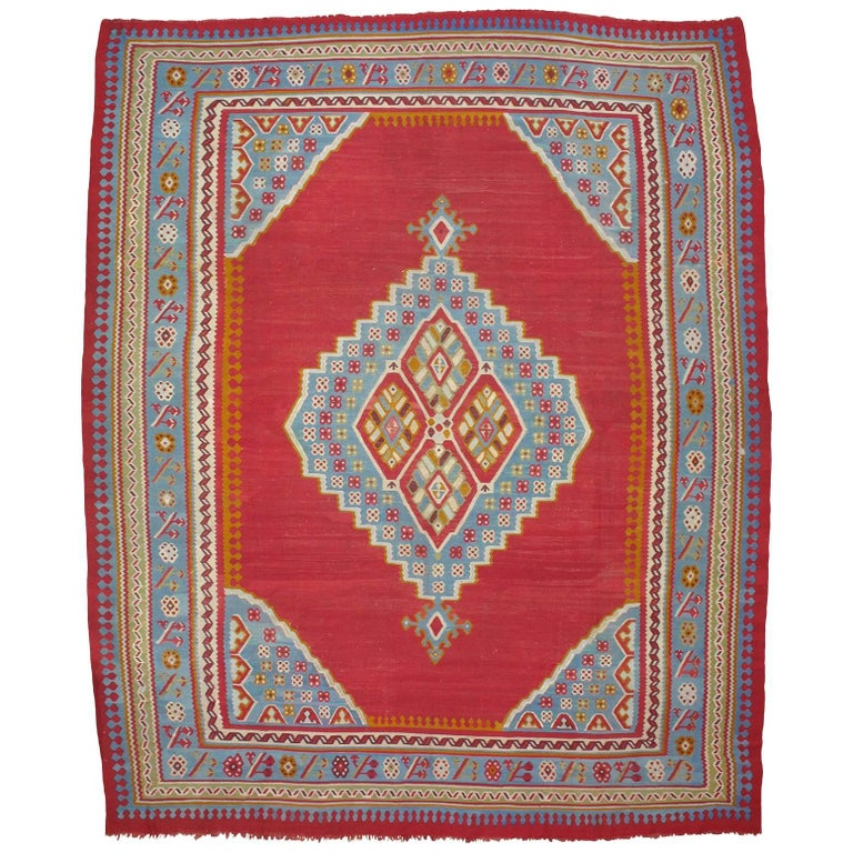 Large Antique Oushak Kilim