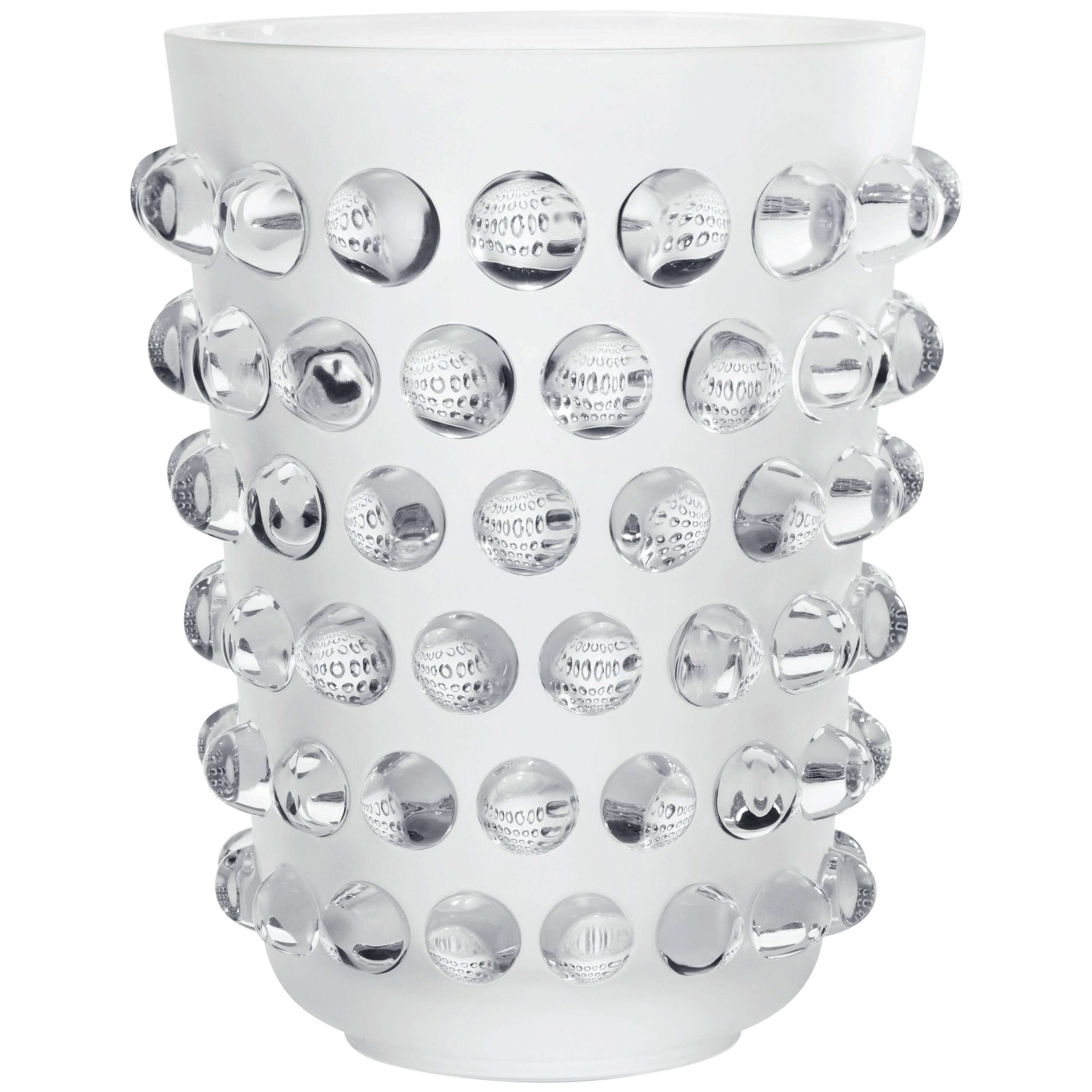 Lalique Mossi Grand Vase Clear Crystal