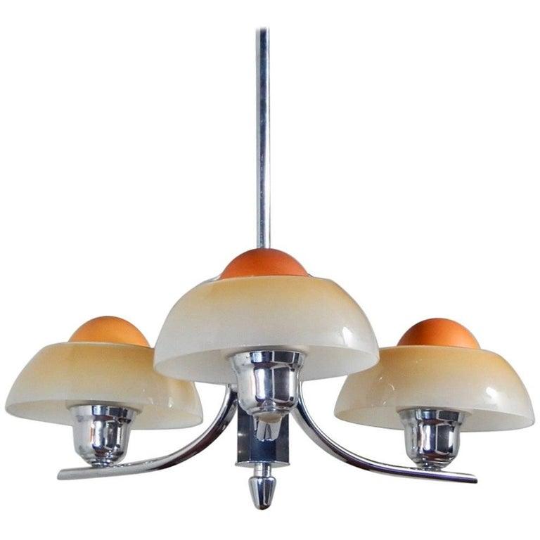 Danish Mid Century Modern Egg Lamp Hanging Fixture Circa 1960