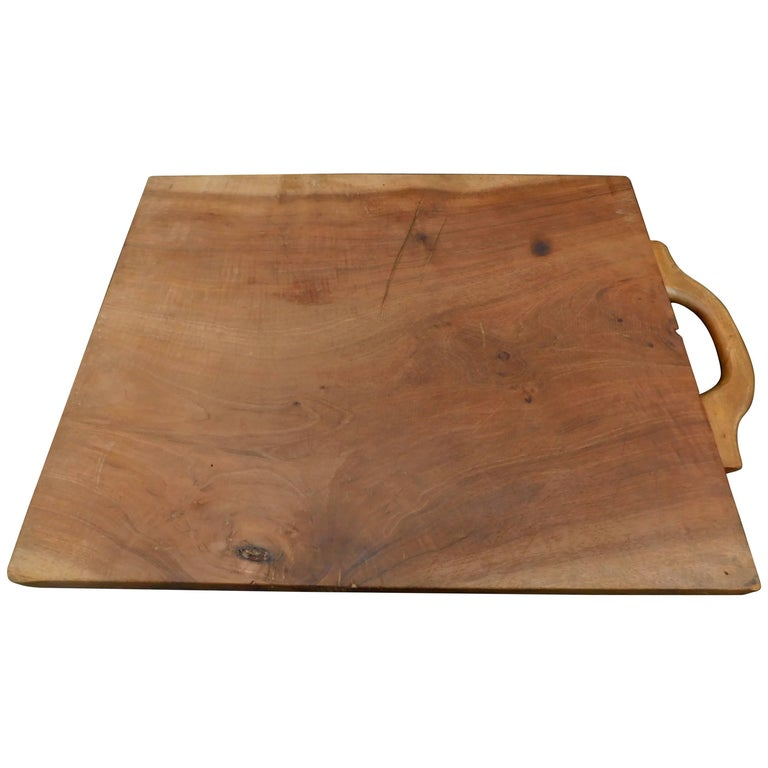 French Wild Cherry Wood Cutting board Made From One Wide Plank.