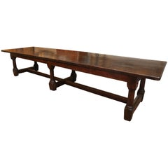 George I Early 18th Century English Oak Refectory Table