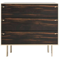Ingemar Cabinet / End Table in African Ebony and Bronze