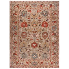 Handwoven Persian Sultanabad Recreation Taupe