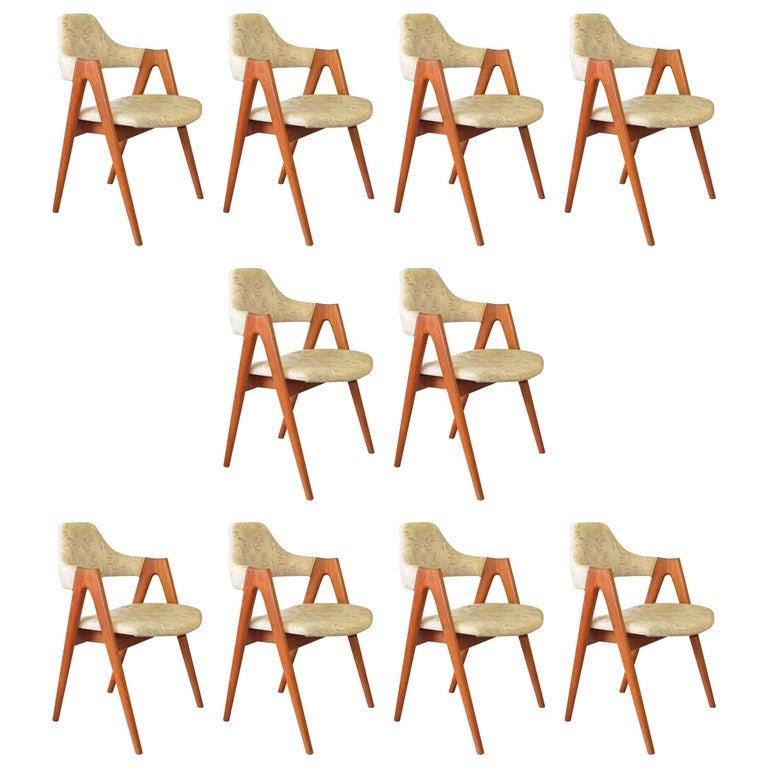 Kai Kristiansen Teak Compass Chairs 1960's