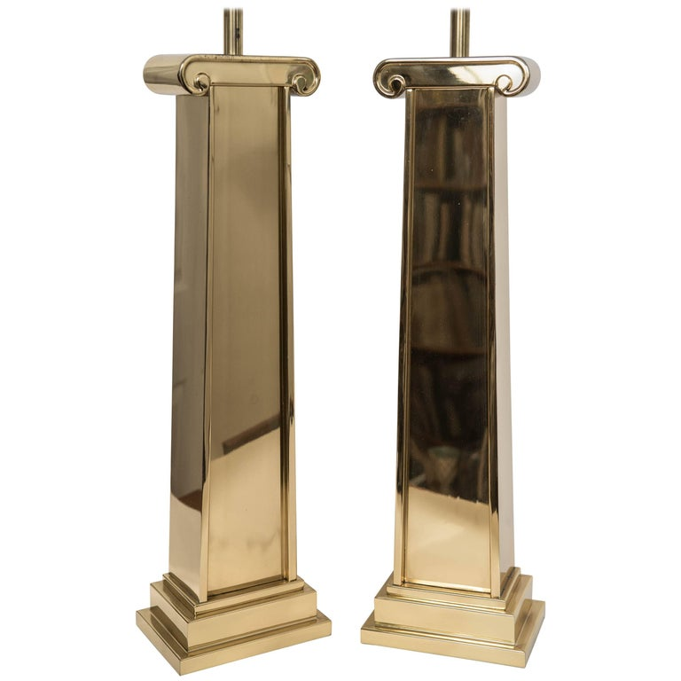 Pair of Chapman Brass Table Lamps